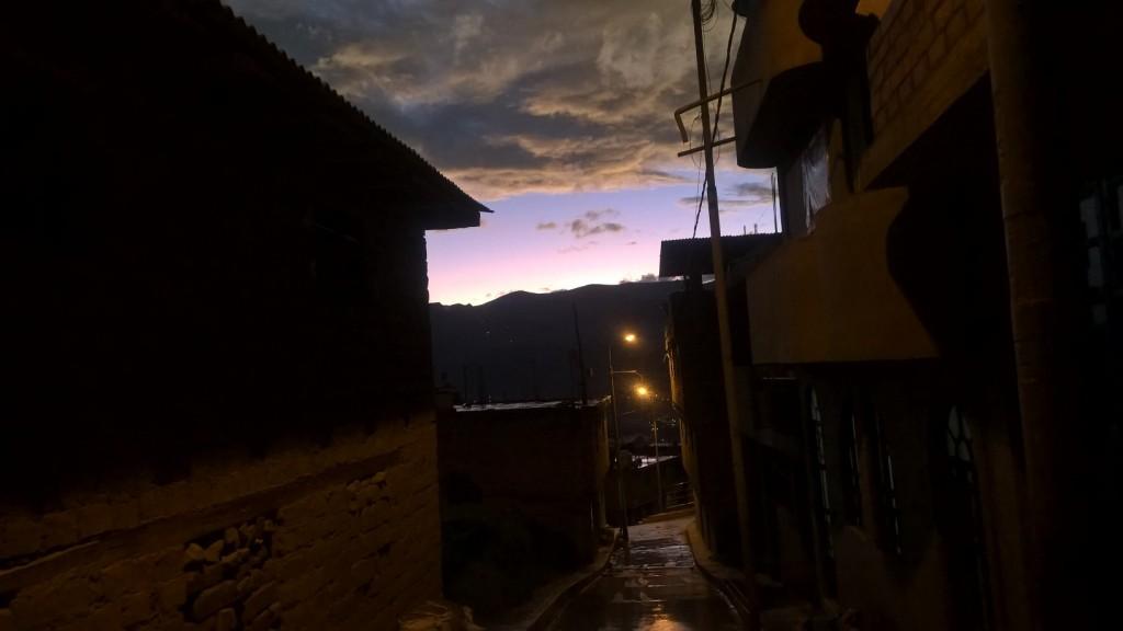 Zachod slonca w Huaraz